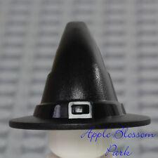 NEW Lego Minifig BLACK WITCH HAT -Castle Kingdom Sorcerer Devil Wizard Head Gear