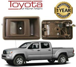 1995-2002 TOYOTA TACOMA INTERIOR DOOR HANDLE OAK - DRIVER SIDE - GENUINE OEM