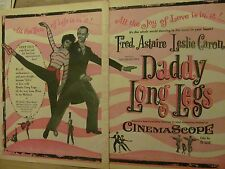 Daddy Long Legs, Fred Astaire, Leslie Caron, Two Page Vintage Promotional Ad