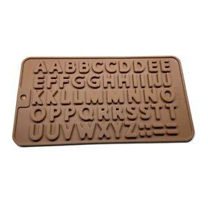 ABC 48 Buchstaben Silikonform Schokoladenform Backform Alphabetgröße 2cm
