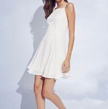 BP Casual chic Strappy white Skater Dress, size Medium