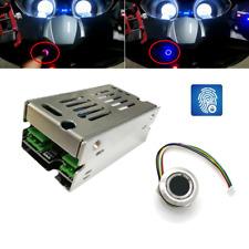 12V LED Fingerprint Motorcycle Lock Start Switch Control Module for Car Door