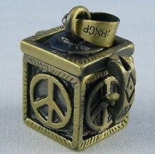 Magic Box Kästchen mit Peace Zeichen Talisman Anhänger zum Öffnen Glücksbringer