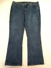 Aura by Wrangler Women's Stretch Denim Boot Cut Medium Wash Blue Jeans Sz 20 AVG