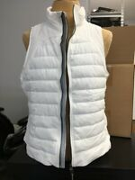 Fast shipping Tangerine White Quilted Puffer Vest Full Zip Brand New