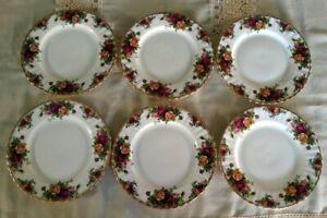 Royal Albert Old Country Roses 6 piatti dolce frutta 21 cm porcellana inglese