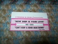 Bee Gees-How Deep Is Your Love (Jukebox Title Strip) NO RECORD 1977 Gibb RSO