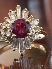 GEM 18k NATURAL RUBY AND DIAMOND RING PRISTINE GORGEOUS LOVE ❤️❤️