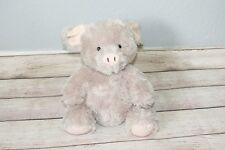 """JellyCat Pudge Piglet Pig Plush Shaggy Curly Tail Gray Stuffed Pot Belly Toy 10"""""""