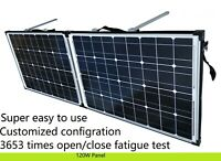 12V 120W Folding solar panel. Suit Lead Acid & Lithium Bat. Customized config.