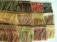"BY THE YARD ~ Beautiful 3 1/2"" Cut Brush Fringe Trim ~ CHOICE of COLORS"