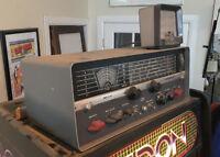 Vintage Antique hallicrafters SX-110 Short Wave Ham Radio & External Speaker