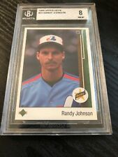 1989 Upper Deck # 25 - RANDY JOHNSON - ROOKIE RC - BVG 8 NM/MT = PSA 8 - HOF