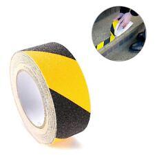 Anti Slip Self Adhesive Grit Tape 5 Metres. Black & Yellow for Floors & Stairs