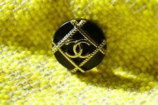 One   Authentic Chanel Button 1 pcs  black silver 20 mm 💋😍😘👍