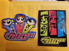 The Powerpuff Girls Trio Bubbles Buttercup & Blossom 2 Different Stickers