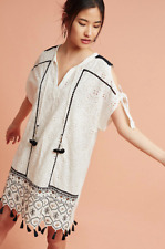 NWT Anthropologie Hemant & Nandita Aditya Embroidered Tunic Dress PXS Petite