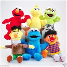 "6PCS Set Sesame Street Plush Toy Soft Doll 5""-7"" Kids Birthday Christmas Gift"