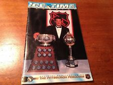 PITTSBURGH PENGUINS ICE TIME MAGAZINE NHL OCT 5 1996 VS TAMPA BAY