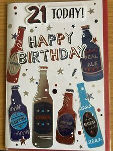 BOYS 21ST BIRTHDAY LARGE SIZE BIRTHDAY GREETING CARD