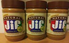 Jif®Natural Crunchy Peanut Butter Spread,16 oz GMO & Gluten Free (3 Pack) 02/21