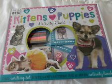 Kittens And Puppies Activity Chest, Over 100 Stickers, a cute writing set
