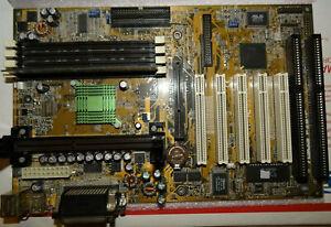 Asus P2B-F Slot 1 Motherboard Intel AGP PCI Vintage With Manual