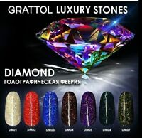 GRATTOL Diamond Collection LS Gel Nail Polish Glitter Color Coat 9ml LED/UV