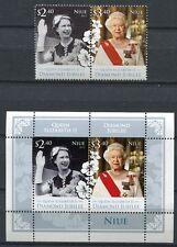 Niue 2012 Königin Elisabeth QE II  Thronjubiläum Royalty 1196-1197 Block 166 MNH