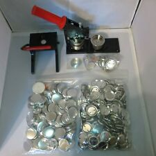 """1-3/4"""" inch New Tecre Badge Button Maker+Graphic Punch+1000 Buttons Pin Parts"""