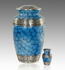 Classic Ocean fire and Silver Cremation Urn, Adult Urn, Handcrafted!