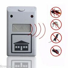 Ultrasonic Electromagnetic Pest Cockroach Fly Spider Repeller Against Plug EU