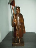 Alte Holzfigur Nachtwächter auf Holzsockel 9441