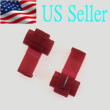 100x Red Scotch Lock Quick Splice Wire Cable Connector Terminal Crimp( AWG22-18)