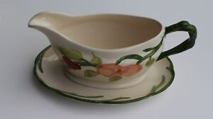 """Gravy Boat with Serving dish - """"Fruit"""" Pottery - (Franciscan)"""