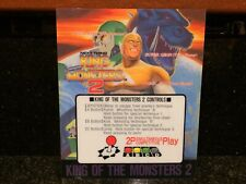 NEW/NOS King of the Monsters 2 MVS Mini Marquee for Neo Geo Cartridge Kit AES