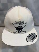 Captain Morgan WHITE RUM Trucker Mesh White Snapback Adult Cap Hat