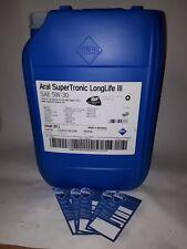 20 Liter ARAL SuperTronic LL3 5W-30 ACEA C3; VW 50400 / 50700 inkl. 5 Ölzettel*