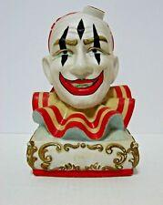 Vintage EZRA BROOKS Clown Porcelain Decanter Bottle Empty