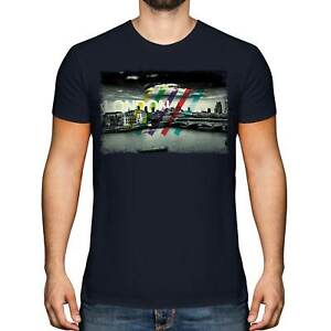 LONDON SKYLINE MENS T-SHIRT TEE TOP GIFT ENGLAND ARCHITECTURE