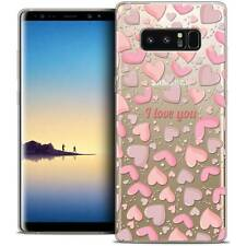 "Coque Crystal Gel Pour Samsung Galaxy Note 8 (6.3"") Extra Fine Souple Love I Lov"