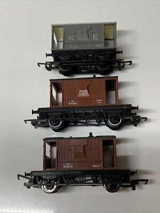 Hornby OO Gauge 20t Brake Van Bundle x 3 #178595 #952564  #952010 Good Condition
