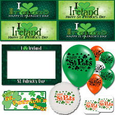 Happy St Patrick's Day Ireland Shamrock Lucky Irish Decorations Party Supplies