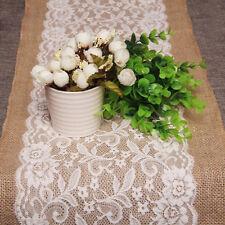 Rustic Jute Burlap Lace Table Wedding Party Home Decor ###