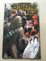 STAR WARS #1 AOD COLLECTABLES EXCLUSIVE DALE KEOWN SIGNED COLOUR COVER MARVEL