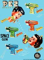 1950s Pez Candy Space Gun Ad 8 x 10  Giclee Print