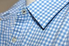 JCP - M - NWOT - Blue & White Gingham Check Plaid Long Sleeve Cotton Shirt