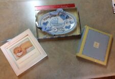 Welcome Baby Boy Personalization Plaque w/Pen Mud Pie Ceramics Nib + Frame Lot