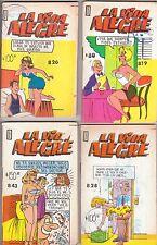 LA VIDA ALEGRE, Mexican comic, set de 4,  Libro Vaquero, almas perversas, memin