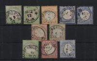 Deutsches Reich 17(2), 18, 20(2), 21, 22, 23, 25 und 26 gestempelt (B05347)